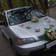 Декор свадебного кортежа. фото