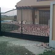 Ворота дизайнерские кованые №9 фото