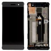 Дисплей для Sony F3111/F3112 (XA) в сборе с тачскрином (черный) с рамкой фото