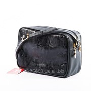 Компактная сумка в материале-черная змея фото