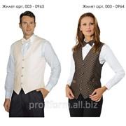 Униформа для работников отелей (жилет мужской), арт. 003-0963 фото