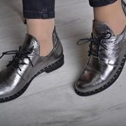 Женские кожаные туфли на шнуровке, в расцветках. ВВ-35-0218 фото