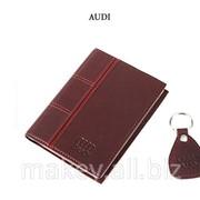 Обложка для водительского удостоверения с брелком AUDI, 065-07-09К фото