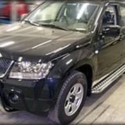 Пороги Suzuki Grand Vitara 2008-2011 5 дв. (с листом 43 мм) фото