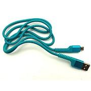 Кабель FDM-12 Micro USB 1m 2.4A Blue фото