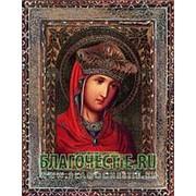 Благовещенская икона Андрониковская Богородица, копия старой иконы, печать на дереве Высота иконы 11 см фото