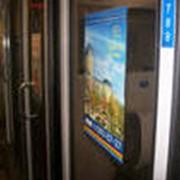 Реклама в поездах фото
