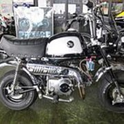 Мопед мокик Honda Monkey Gorilla рама AB27 гв 2007 Minibike задний багажник пробег 982 км черный белый фото