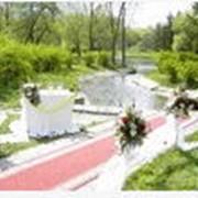 Выезная регистрация брака, оформление венчального зала фото