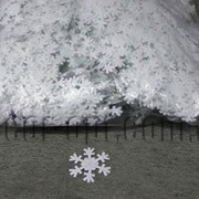 Фетровые заготовки-снежинки белые 3.4 см 1000 шт 570208 фото