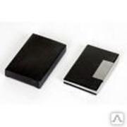 Визитница (95x60x5mm, черный, алюминий \PU) фото