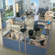 Мобильные офисные перегородки фото