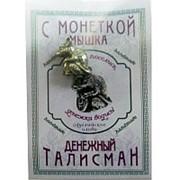 Кошельковый оберег Мышка с монетой фото