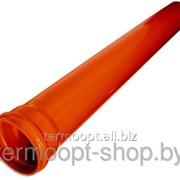 Труба канализационная 110/6000/3,2 оранжевая фото