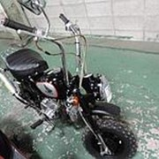 Мопед мокик Honda Monkey рама Z50J Minibike тюнинг задний багажник пробег 7 т.км черный серебристый фото