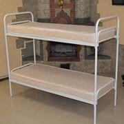 Кровать металлическая двухъярусная армейская фото