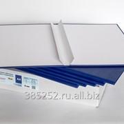 Обложка для твердого переплёта бесканальная с шириной корешка 15 мм, книжная, синяя фото