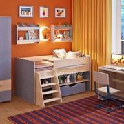 Детская комната Легенда 11 с полками венге светлый/лен голубой фото
