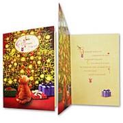 Открытка С Новым годом! 3Д кот 26615 0260.329 фото