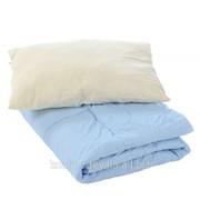 """Комплект одеяло + подушка """"Зимние сны"""" Голубой фото"""