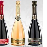 Шампанское ТМ L'ODESSIKA - дизайн лого ТМ, концепт и дизайн этикетки /кольеретки линейки SKU, дизайн сувенирной упаковки. фото