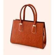 Женская сумка светло-коричневая 651 фото