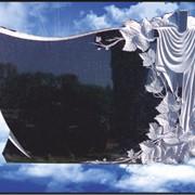 Гранитный памятник (двойной) с художественной резьбой D-46 фото