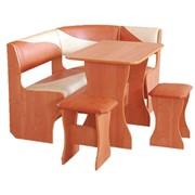 Кухонный уголок «Аленка-5 (КОМБ.)» (стол нераздвижной) кож/зам. фото