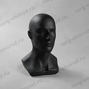 Мужской манекен головы для шапок, черный матовый Г-402(черн мат) фото