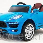 Одноместный электромобиль Porshe Macan, с резиновыми колёсами и магнитолой фото
