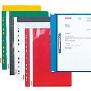 Папка-скоросшиватель Esselte с перфорацией с прозрачным верхним листом, А4, 10шт/уп, зеленая фото