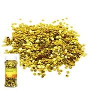 Блестки конфетти для декора золотые 70г фото