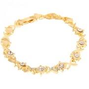 Браслет Иксики , цвет золотой со стразами фото