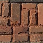 Плитка из песчаника со сколом, терракотово-красная фото