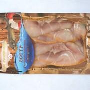 Ломтики из осетра холодного копчения в пакетах под вакуумом, 100 г фото