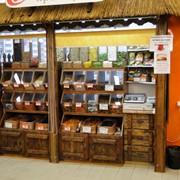 Торговая мебель из массива сосны и ДСП для мелких сыпучих и фасованных продуктов питания(конфеты,сухофрукты,чай,кофе и др.) фото