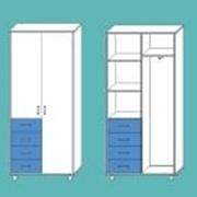 Шкаф медицинский для одежды МШ-2.25-ВТМ белый фото