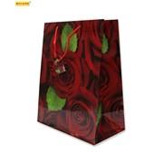 """Пакет подарочный ламинированный """"Бутоны роз"""", 26х14х33см (MILAND) фото"""
