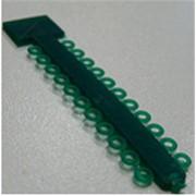 Эластичные лигатуры на прямом модуле 0,12 мм, зеленое желе *Glenroe* фото