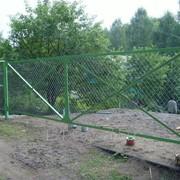 Металлические ворота 1.8м х 4м фото