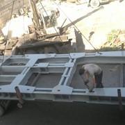 Рама переходная для крепления лебедки ЛПЭ-3451300А на фундаментальные блоки БФ-2 фото