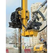 Вибрационный копер Delta VM-100E для забивания столбов и опор дорожных ограждений фото