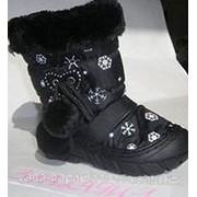 Сапоги зимние дутые 23 цвет Черный фото