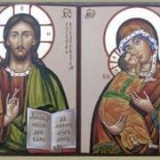Изготовление писаных Венчальных икон. фото