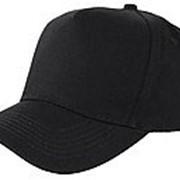 Бейсболка 5 панельные плотные черное фото