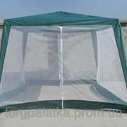 Шатер павильон садовый 3х3 с москитными сетками (тент - полипропилен) фото