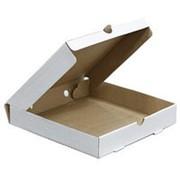 Коробка для пиццы 250х250х52 мм микрогофрокартон бело/бурый фото