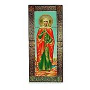 Благовещенская икона Валерия (Калерия), святая мученица, ростовая мерная икона в окладе из чеканной меди Высота иконы 46 см фото