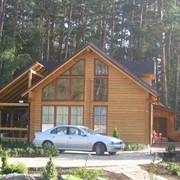 Изготовление деревяных домов. фото