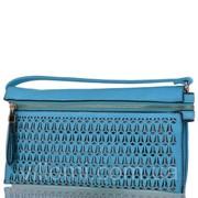Женский клатч из качественного кожезаменителя RONAERDO BAL21360-blue фото